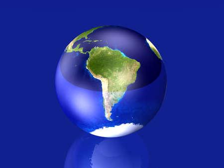 glas: Glassy Globe - South America