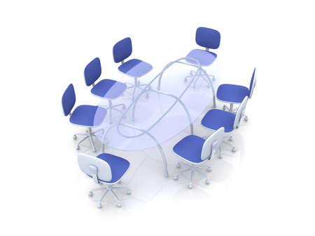 boardroom: Boardroom Table Stock Photo