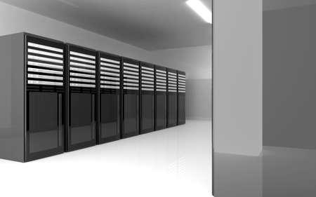 webspace: Server Room Stock Photo
