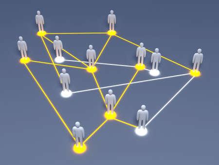 clique: Social Network Stock Photo