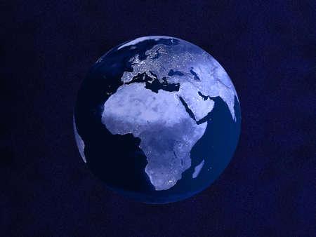 nightly: Nightly Globe  Stock Photo