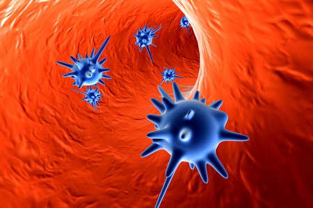 viruses: Virus en torrente sangu�neo