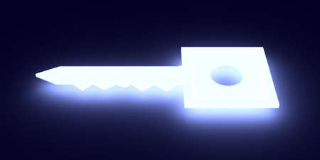 enlightened: Glowing  Key   Stock Photo