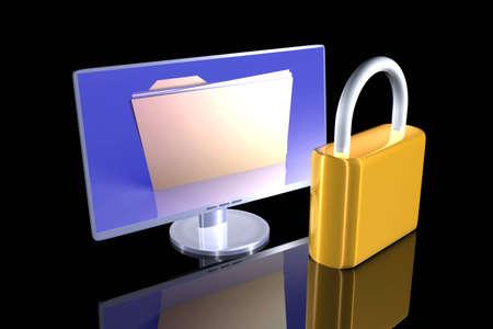 harddrive: Secure File Stock Photo