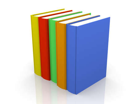 Row of colored Books  photo