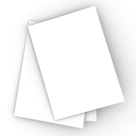 unfold: Paper sheets Stock Photo