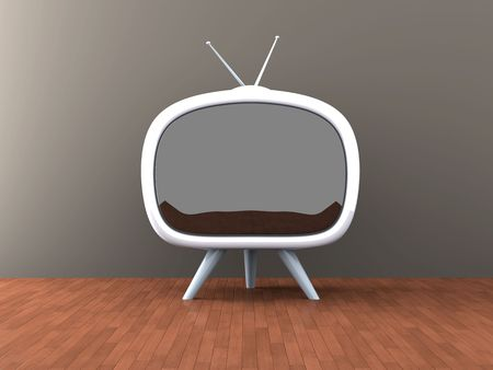 Retro TV Banque d'images - 5750426