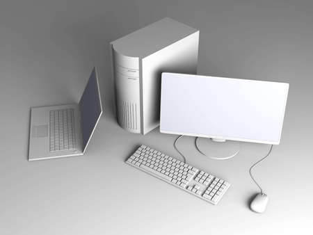 Laptop and Desktop PC Stock Photo - 5787751