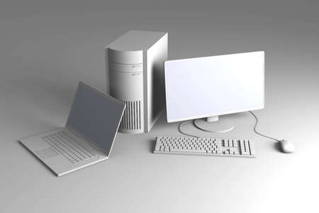trackpad: Laptop and Desktop PC  Stock Photo