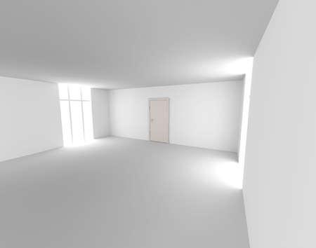 doorstep: An empty room.