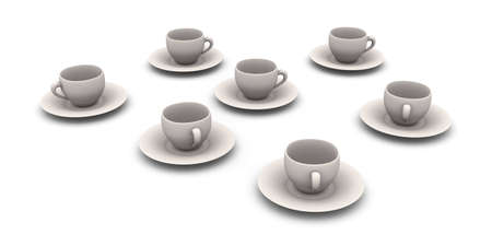 cofffee: 3D rendered Illustration. Isolated on white. Stock Photo