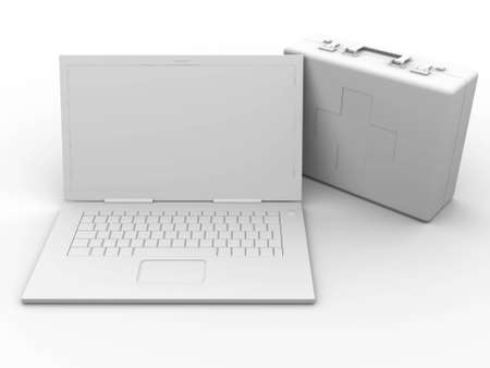 trackpad: 3D Illustration. Isolated on white.
