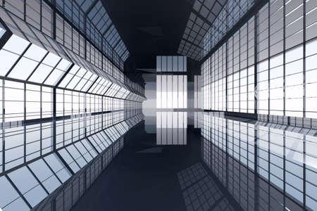 corridor: 3D rendered Illustration.