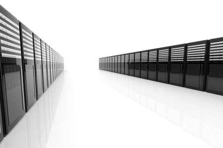 fileserver: 3D Illustration. Isolated on white.
