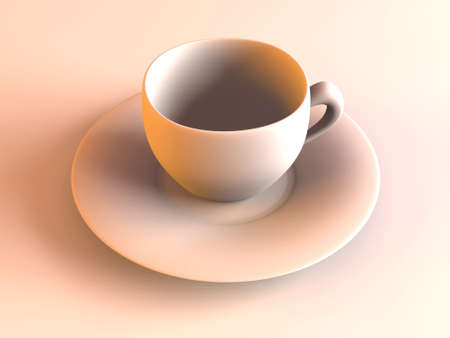 mocca: 3D rendered Illustration. A coffee or tea cup