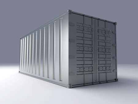 seafreight: Container. 3D rendered Illustration. Stock Photo