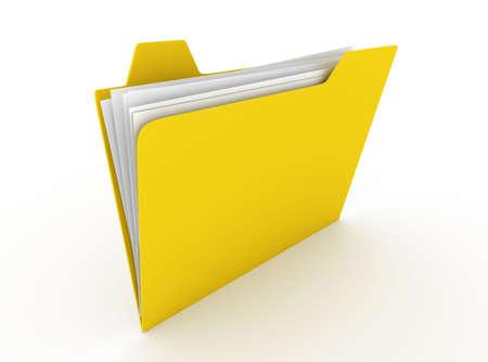 Folder. 3D rendered Illustration. Isolated on white. illustration