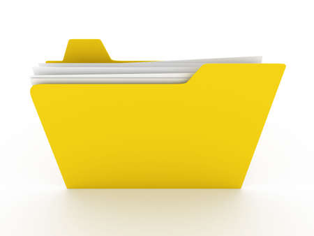 Folder. 3D rendered Illustration. Isolated on white. illustration