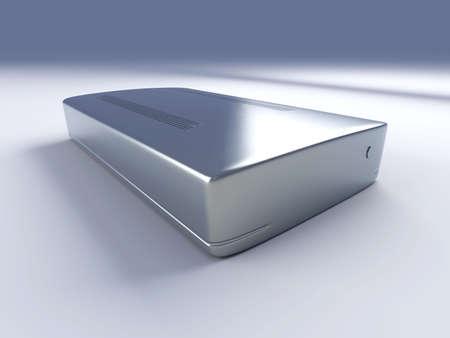 harddrive: External Harddrive. 3D rendered Illustration.