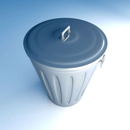 eliminate waste: 3D rendered Illustration.