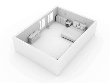 3D rendered Illustration. Interior Scene. illustration