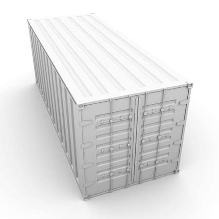 shipping containers: 3D rendered Illustration.