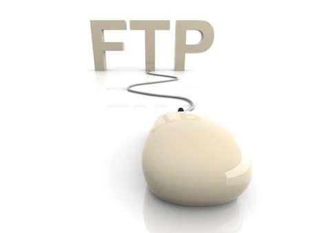 webhoster: 3D rendered Illustration. FTP connection.
