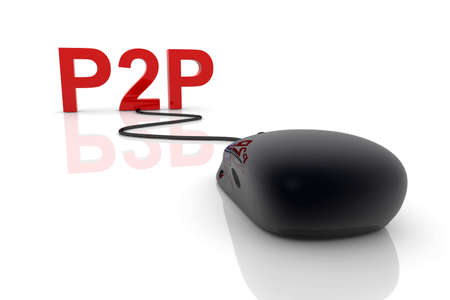 peer to peer: 3D representa la ilustraci�n. Peer conexi�n del mismo nivel.