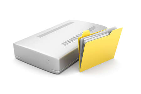 harddrive: 3D rendered Illustration. Isolated on white. Stock Photo