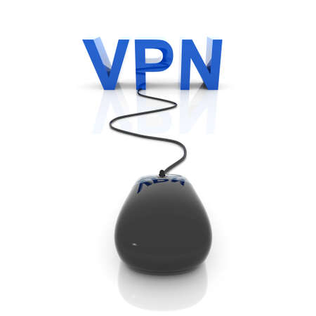 3D rendered Illustration. Virtual private network connection.
