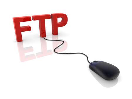 ftp: 3D rendered Illustration. FTP connection.