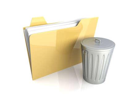 eliminate waste: 3D rendered Illustration. Isolated on white. Stock Photo