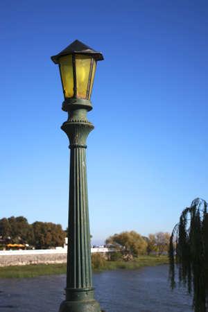 Lantern in Colonia del Sacramento, Uruguay, South america. Imagens