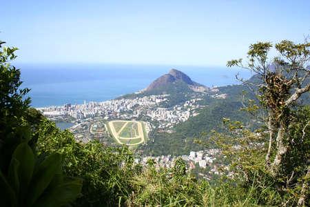 The city of Rio de Janeiro. View from the Corcovado. photo