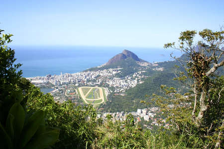 janeiro: The city of Rio de Janeiro. View from the Corcovado. Stock Photo
