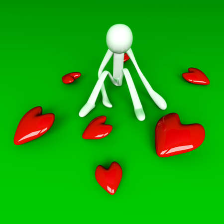 3D rendered Illustration. Being lovesick. illustration