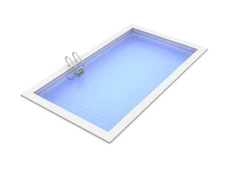 water basin: 3D rendered Illustration. Isolated on white. Stock Photo