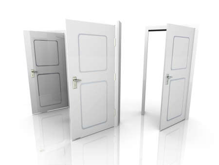 3D rendered Illustration. All Doors are opened for you... illustration