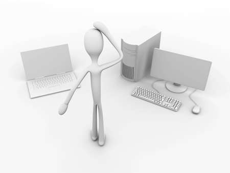 3D rendered Illustration. Isolated on white. Stock Illustration - 7172289