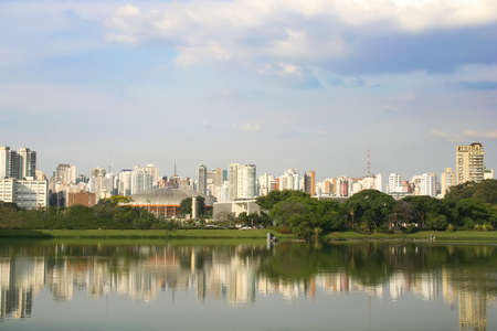 Skyline of Sao Paulo, Brasil. Stock Photo