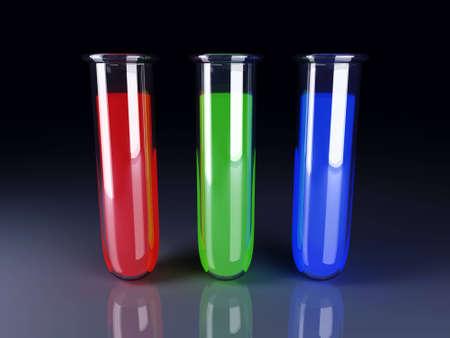 serology: 3D rendered Illustration.  RGB printing colors. Stock Photo