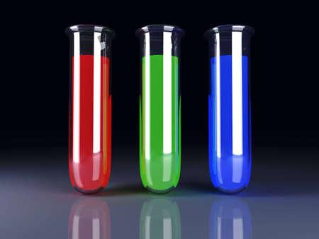 serology: 3D rendered Illustration. RGB printing colors.