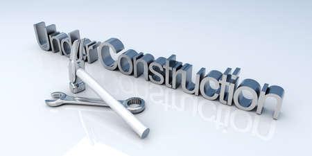 3D Illustration. Website is under construction. Stock Photo