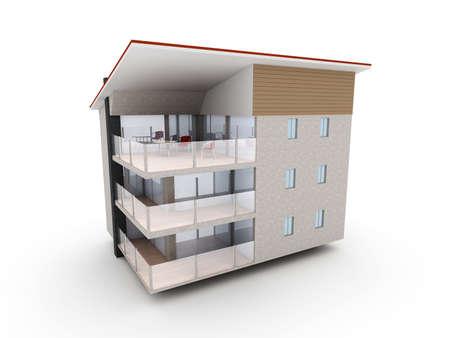 penthouse: 3D rendered Illustration.