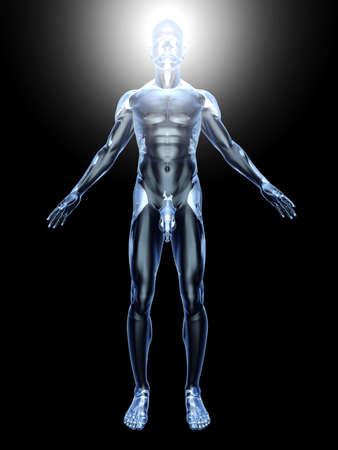 iluminados: 3D representa la ilustración.