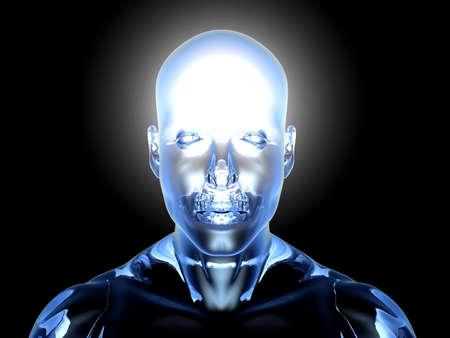 meditation man: 3D rendered Illustration.