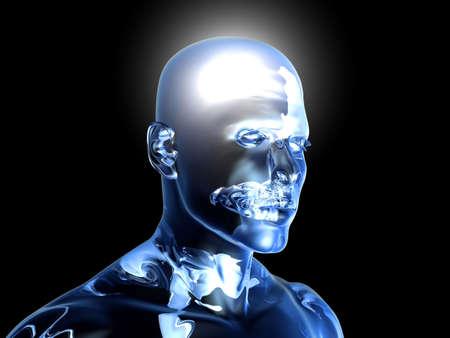 mente humana: 3D representa la ilustraci�n.
