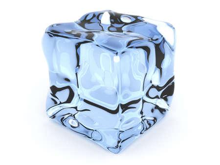 ice blocks: 3D rendered Illustration. Isolated on white. Stock Photo