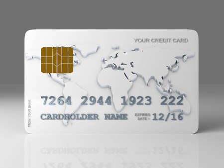 prepaid card: 3D rendered Illustration.