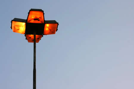 streetlight: A Streetlight in the dusk. Stock Photo